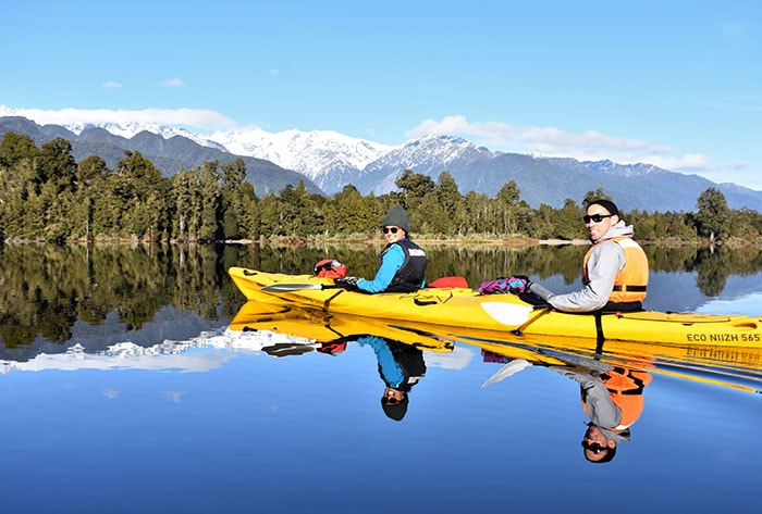 Classic Kayak Tour nz holiday ideas kayaking Glacier Country Kayaks