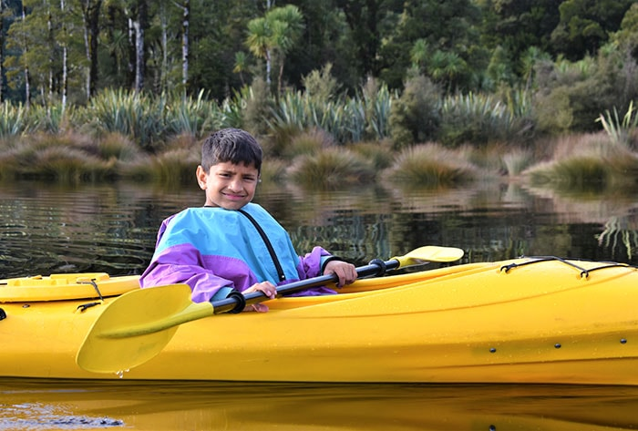Kayak Discovery Tour Things to do for kids Franz Josef Glacier Country Kayaks