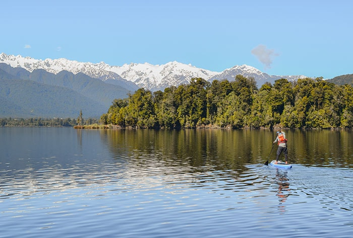 Sup Hire Glacier Country Kayaks SUP NZ tour