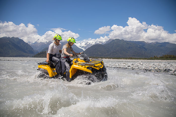 Quad bike and Glacier